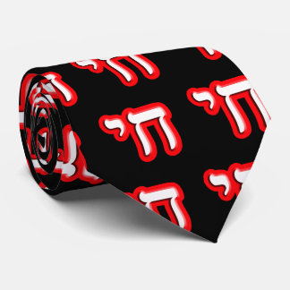 """Chai - Hebrew Meaning, """"Life."""" Tie"""