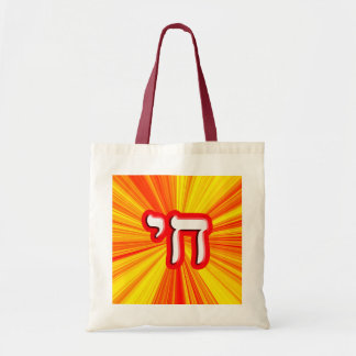 """Chai - Hebrew Meaning, """"Life."""" Tote Bag"""