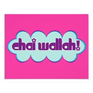 Chai Wallah 4.25x5.5 Paper Invitation Card