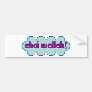 Chai Wallah Bumper Sticker