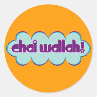 Chai Wallah Classic Round Sticker