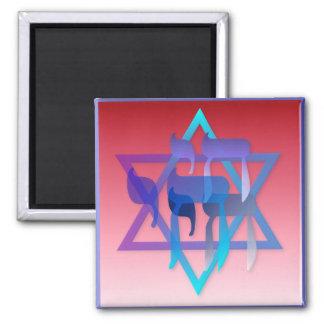 Chai y estrella del imán de David