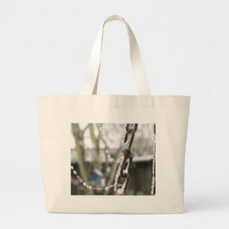 Chain and Pearls Large Tote Bag