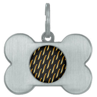 chain background pet ID tag