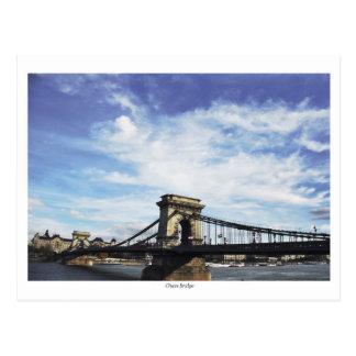 Chain Bridge at daytime Postcard