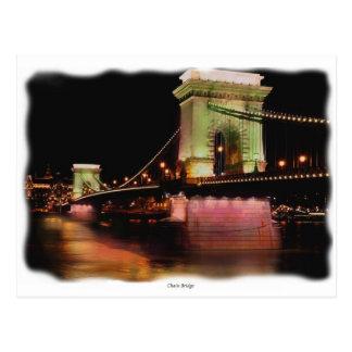 Chain Bridge  at night Postcard
