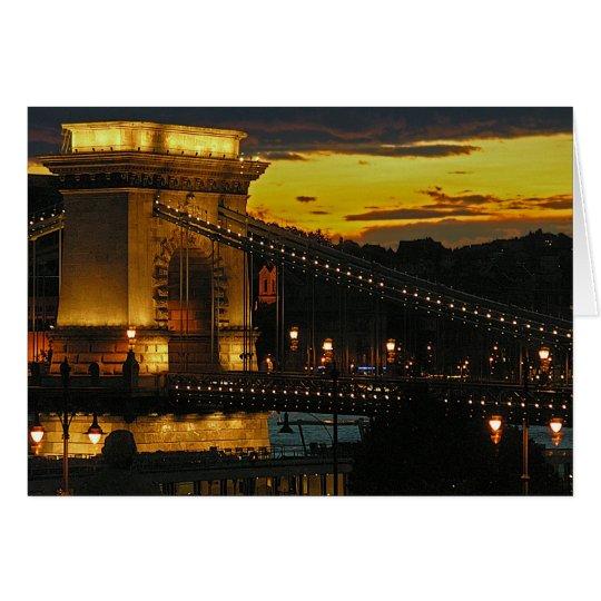 Chain Bridge(Budapest) at Sunset(3) Card