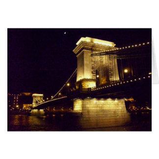 Chain Bridge Budapest Hungary Card