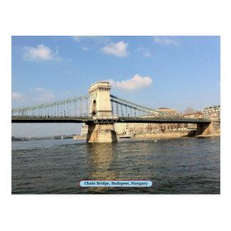 Chain Bridge, Budapest, Hungary Postcard