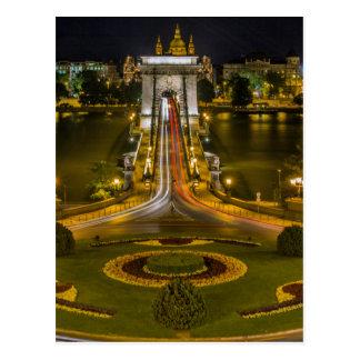 Chain Bridge Budapest Postcard