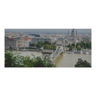 Chain bridge, Budapest Rack Card