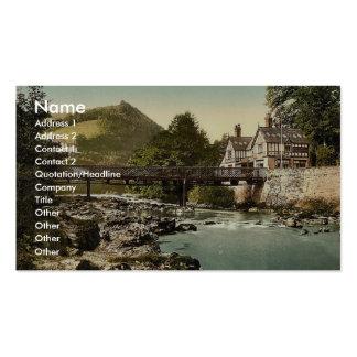 Chain Bridge Hotel, Berwyn Valley, Llangollen, Wal Business Card