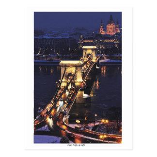 Chain Bridge in blue hour Postcard