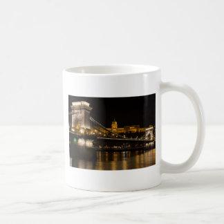 Chain Bridge with Buda Castle Hungary Budapest Coffee Mug