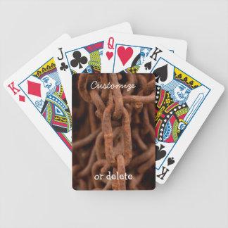 Chain Chain Chain; Customizable Bicycle Playing Cards