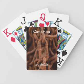 Chain Chain Chain; Customizable Bicycle Playing Cards