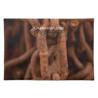 Chain Chain Chain; Customizable Cloth Placemat