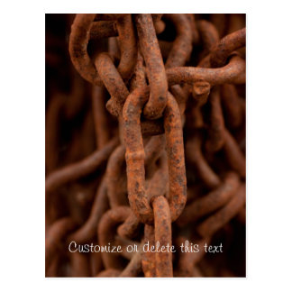 Chain Chain Chain; Customizable Postcard