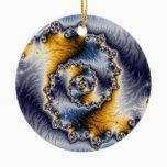Chain Fractal Art Ceramic Ornament