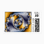 Chain Fractal Art Postage