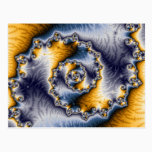 Chain Fractal Art Postcard