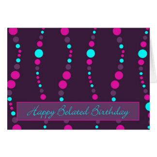 chain happy belated birthday greeting card