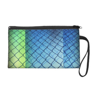 Chain Link and Blue Skies Wristlet