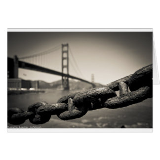 Chain Link at the Golden Gate Greeting Card