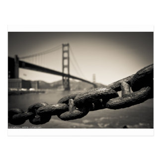 Chain Link at the Golden Gate Postcard