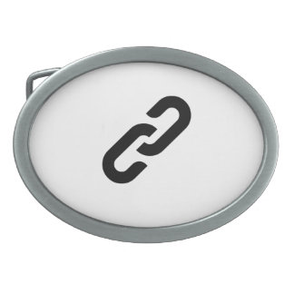 Chain Link Oval Belt Buckles