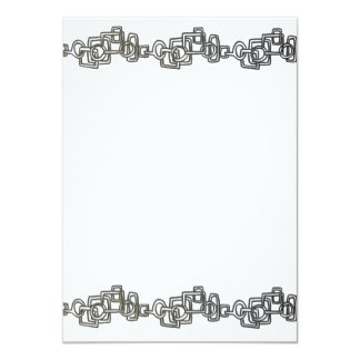 Chain Link-Black And White Bling Card