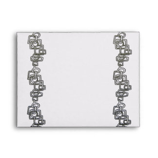 Chain Link-Black And White Bling Envelope