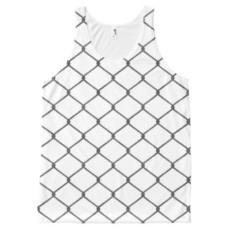 Chain Link Fence All-Over-Print Tank Top