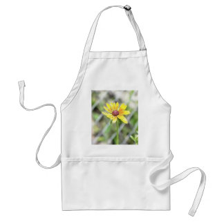 Chain Link Fence and Black Eyed Susan Adult Apron