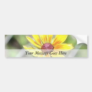 Chain Link Fence and Black Eyed Susan Bumper Sticker