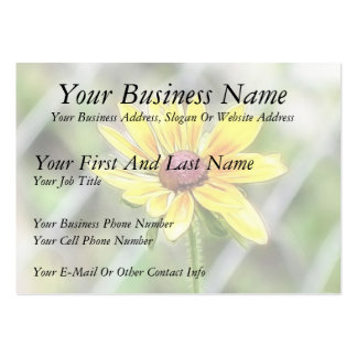 Chain Link Fence and Black Eyed Susan Business Card Templates