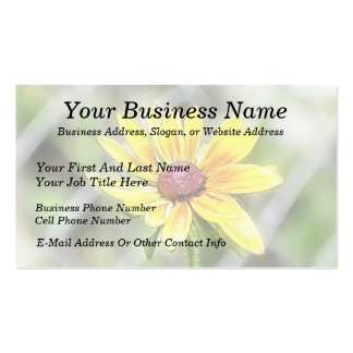 Chain Link Fence and Black Eyed Susan Business Cards