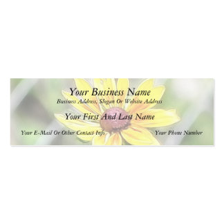 Chain Link Fence and Black Eyed Susan Business Card