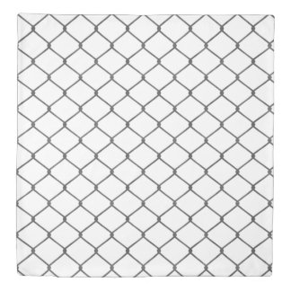 Chain Link Fence Duvet Cover