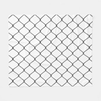 Chain Link Fence Fleece Blanket