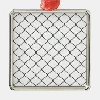 Chain Link Fence Metal Ornament