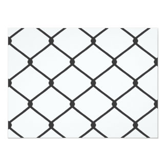 Chain Link Fence Pattern Invitation