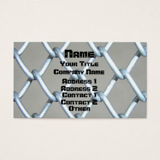 Chain Link & Screwed Business Card