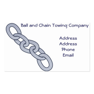 Chain Link Towing Wrecking Company Business Cards