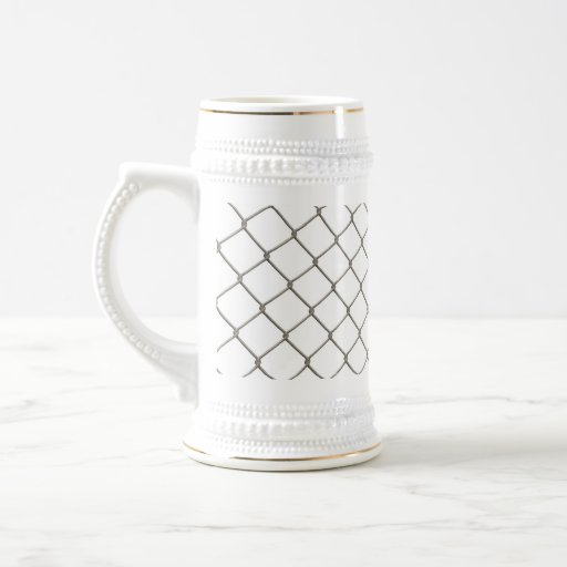 Chain Linked Fence Beer Stein