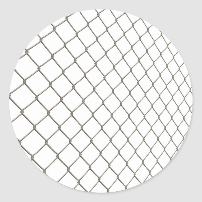 Chain Linked Fence Classic Round Sticker