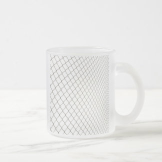 Chain Linked Fence Frosted Glass Coffee Mug