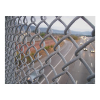 Chain linked fence poster