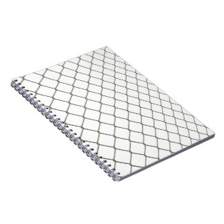 Chain Linked Fence Spiral Notebook
