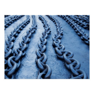Chain-links, by Sinisa Botas Poster